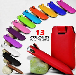 Wholesale Cheap Galaxy S4 Cases - Pull tab leather pouch case for iphone 6 6plus 5 5S and Samsung Galaxy S6 S5 S4 S3 note4 3 2 cheap Mobile case cover