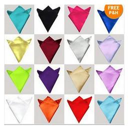 Wholesale Purple Ascot Cravat - pocket square handkerchief ties accessories solid hanky square towel men's handki 50 pcs  lot