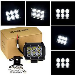 "Wholesale Off Road Led Spot Light - 4"" 18W square hight intensity CREE LED Light Bar led work light Headlight Spot Flood lamp Driving Fog Light for SUV Off-road Boat"
