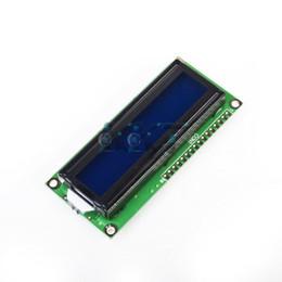 Wholesale Lcd Display Character - hot sell 1pcs Module 5V Blue 1602 16x2 HD44780 Character LCD Display Backlight New Free Shipping free shipping