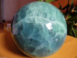 Wholesale Green Fluorite Crystal - 100MM Glow In The Dark Natural Green Fluorite Magic Crystal Healing Ball + Stand