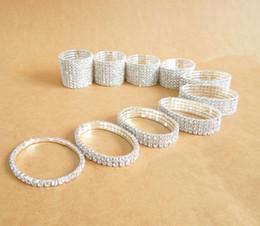 Bracelets souples en Ligne-Mode Strass Bracelets Lady Girl Le Swiss Flexible strass bijoux Bracelet 1 ~ 10 lignes au choix