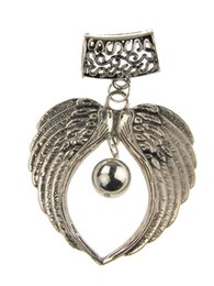 Wholesale Necklace Scarf Accessories - Direct Traditional Charm Alloy Selling Charms Angel Wings Jewelry Scarves Pendant 2015 Fashion Women Diy Scarf Necklace Accessories Zh0065