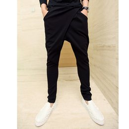 Wholesale Hip Hop Pants For Boys - Wholesale-mens joggers Casual Hot Sale Hip Hop Silm Cube Harem Pants Polyester Trousers For Boys Full Length Compression Pants