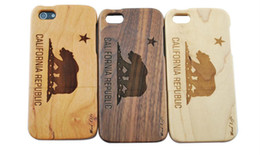 Wholesale 5c Cover Wood - Eco-friendly wood Cases wooden case for iphone 5 5c iphone 6 6plus S7 S6 original ecology bamboo wood cover Shockproof Hard wood phone shell