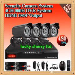 Wholesale Dvr Mobile Surveillance 4ch - CIA-home CCTV Surveillance 4CH security DVR Kit Full 960H 480TVL Camera mobile phone monitor,Video surveillance camera system