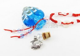 Wholesale Glass Bottle Cork Heart - New fashion 20pcs a lot heart shape glass bottles with cork pendant necklace