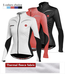 Wholesale Cycling Jersey Woman Red - Hot new winter sityle ropa ciclismo 2015 women thermal fleece cycling jersey jacket bike racing clothing winter fleece Costume cycling wears