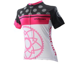 Wholesale Cycling Jersey Women Flower - new arrival Women Cycling Jersey Breathable Bike Clothing  Quick-Dry Bicycle Sportwear Shirt Top Gear Flowers free shipping