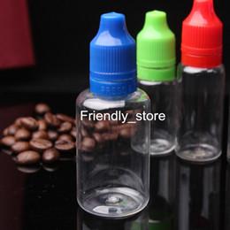 Wholesale Cigarette Factory For Sale - Factory Sale PET E Juice Empty Plastic E liquid E cigarette Bottles 30ml With Tamper Evident Childproof Caps For Oil 30ml