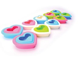 Wholesale Bento Shape - 20Pcs Lot Cute Heart-Shaped Love Sandwich Maker Breads Rice Cookie Sushi Mold Toast Cutter Bento 2016 Spring Hot Sale