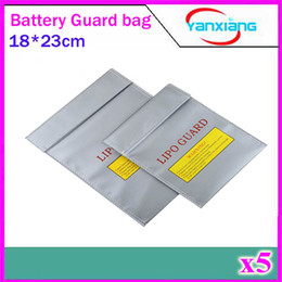 Wholesale Helicopter Case - 5pcs 18X23 cm RC LiPo Battery Safety Bag Case Safe Guard Charge Sack Hot Selling ZY-BAJ-01