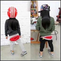 Wholesale Good Cool Clothes - 2015 Summer kids cool cartoon pants boy girl Good Quality shark tooth Zipper Harem pants Baby clothes DHL free ship MOQ:20pcs SVS0312#