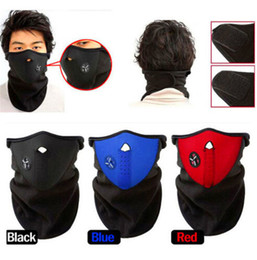 Wholesale Neoprene Motorcycle Face Masks - 5pcs Newly Neoprene Neck Warm Face Mask Veil Sport Motorcycle Cycling Ski Snowboard Guard black blue red color Free Shipping