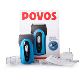 Wholesale Povos Shaver Usb - POVOS Men's Rechargeable Rotary Waterproof Washable Electric Shaver Razor USB Plus Free Shipping PS5302