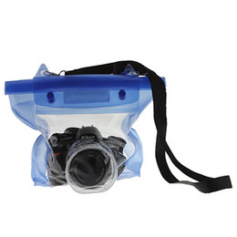 Wholesale Waterproof Floating Camera Bag - Waterproof Blue Digital Camera DSLR Case Underwater Diving Floating Pouch Housing Dry Bag For Canon for Sony For Nikon D7000
