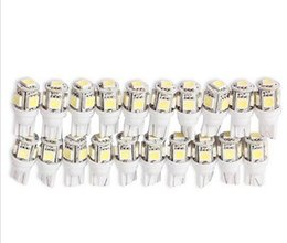 Wholesale Lamp Reading - 100PCS T10 5 SMD 5050 T12 W5W LED White Light Car Side Wedge Tail Light Lamp Bright Car Bulb Light wholesale