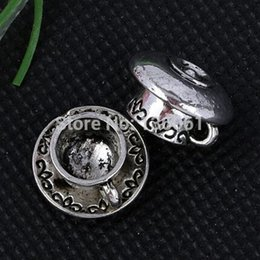 Wholesale European Tea Sets - Vintage Silver Romantic Alloy Tea set Floating Locket Charms Pendants For DIY Bracelet Necklace Earrings Jewelry Making Findings 200PCS A259