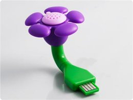 Wholesale Usb Freshener - Cute Mini Aroma USB Scent Flower Diffuser Air Purifier USB fresher Air Purifier Freshener Humidifier Without Oil E471L