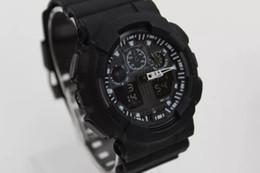 G azzurro bianco online-orologio sportivo ga100 G Nero Blu Rosso Bianco Display LED Moda esercito militare shocking orologi da uomo Casual Orologi