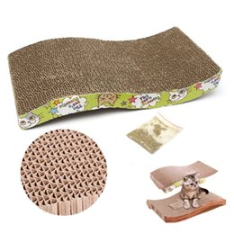Wholesale Toy Shapes Track - S-Shaped Pet Cat Comfort Scratch Scratcher Scratching Board Pad Mat Catnip Bed Kitten Climbing Toys order<$18no track