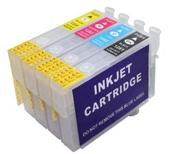 Wholesale Epson T1291 Cartridge - T1291 T1292 T1293 T1294 empty Refillable ink cartridge with chip for Epson SX425W SX420W SX525WD SX620FW BX625FWD BX305F BX305FW BX320FW