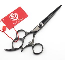 Wholesale Left Hand Scissors Japan - 6inch Left Handed Ergonomic Three Finger Hole & Swivel Thumb Rings Hair Salon Scissors