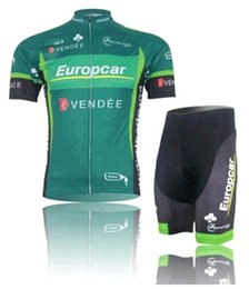 Wholesale Europcar Sleeve - Green Europcar VENDEE Cycling Jersey Short Sleeve Suit,Bike Cozy Suit(Top + Pant),Perspiration Breathable Riding Clothes Short Sleeve Suit