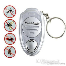 Wholesale Electronic Ultrasonic Anti Mosquito - hot selling! Key Clip Keychain Electronic Ultrasonic Anti Mosquito Insect Pest Repellent Repeller free shipping