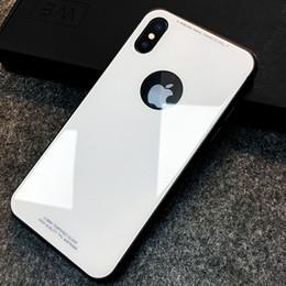 Note cas de charge en Ligne-Contre-panneau en verre trempé anti-résistance avec panneau arrière en TPU souple et charge sans fil pour couverture rigide pour iPhone X / iPhone 6/7/8 / Note 8