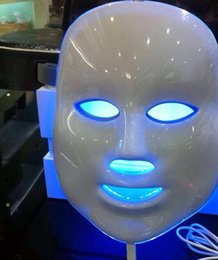 Wholesale Led Light Therapy Equipment - 7 colors led beauty mask Photon pdt led light therapy equipment for skin rejuvenation DHL free shipping