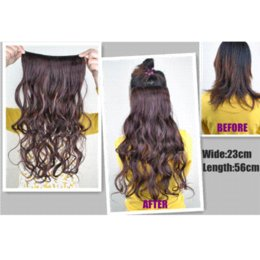 Canada one piece clip blonde hair extensions supply one piece new fashion 60cm color 613 light blonde girls 5 clips one piece long wavy clip in hair extension from dropshipping suppliers pmusecretfo Images