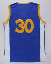 Wholesale Cheap Athletic Shirts - Blue #30 Basketball Jerseys Blue Men's Basketball Shirts High Quality Champion Basketball Wear Cheap Sports Team Jerseys Athletic Apparel