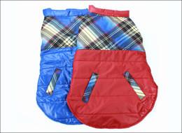 100% NUOVO grande cane vestiti abbigliamento caduta e giubbotto invernale giacca golden husky vestiti Rosso / Blu Spedizione gratuita da