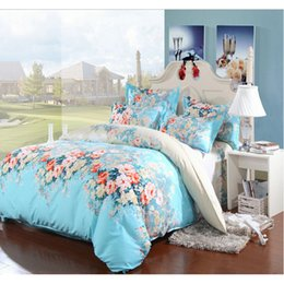 Wholesale Floral King Pillowcases - Bluw Alice Floral Printing Bedding Set Fashion Bed Sheet   Duvet Cover   Pillowcase, 3-4 Pcs Comforter Cover Set Home Textile Gift