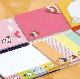 Wholesale Sticky Note Book - Wholesale Cute Sticky Memo Pad Lovely Sticky note Pad Set DIY School Pad Message Sticker 30pcs lot Free shipping