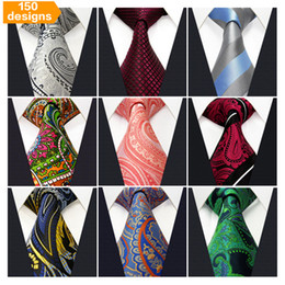 Wholesale Orange Stripe Tie - Free Shipping Wholesale Assorted Mens Tie Neckties Silk Fashion Classic Handmade Wedding High Quality Paisley Stripes Plaids Dots