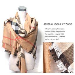 Schal checks online-Fabrik verkaufen hohe qualität luxus promi design klassische wolle kaschmir check schal wickelschal buchstabendruck schals 140 * 140 cm