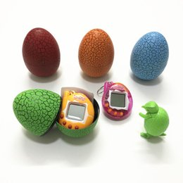 Wholesale Free Virtual Games - Retro dinosaur tumbler egg virtual pet The puzzle of children virtual game pets mini game for virtual electronic pet DHL Free shipping