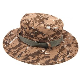 Wholesale Military Style Caps Hats - Wholesale-2015 New Arrival Unisex Plaid Pattern Combat Camo Ripstop Army Military Style Bush Jungle Sun Hat Cap Hiking Fishing