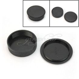Wholesale M42 Lens Cap - Hot Sale Black Plastic Rear Cover + Body Cap Fit For all M42 42mm Camera & Lens