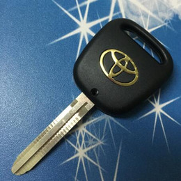 Wholesale Toyota One Button Key - High Quality Car Key Shell Replacement Toyota Wish Remote Key Blank Case With one button On The Side