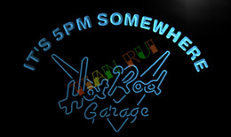 Wholesale Hot Rod Neon Sign - LA500-TM It's 5 pm Somewhere Hot Rod Garage Neon Sign. Advertising. led panel.jpg