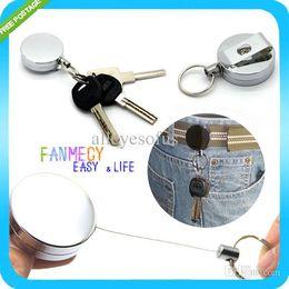 Wholesale Nursing Belts - Wholesale-Heavy Duty Retractable Keychain Reel Badge Id Holder Belt Clip Nurse Clip Name Card Key Holder