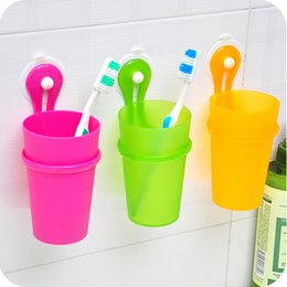 Wholesale Toothbrush Holders Suction Cups - Sucker hanging toothbrush storage backet   wall suction cup   toothpaste toothbrush holder WC8