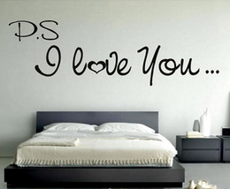 Wholesale Love Life Live - P.S I Love You Vinyl Wall Decal Sticker Art Love Wall Decoration