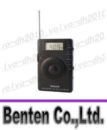Argentina llfa1724 Nuevo DEGEN DE215 FM FML MW Receptor de radio Mini Handle Portable Three Bands Suministro
