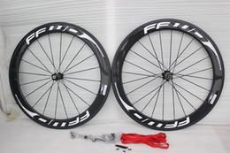 Wholesale novatec hub wheelset - 3K UD FFWD F6R 60mm road bike carbon wheels 7 colors 23mm width Novatec A271 hub road bike carbon wheelset Free shipping