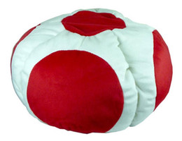 Wholesale Caps Comics - hot sale Super Mario Bros Red Toad Plush Hat Mario Cap Plush Warm Anime Cosplay Plush Cap Hat free shipping