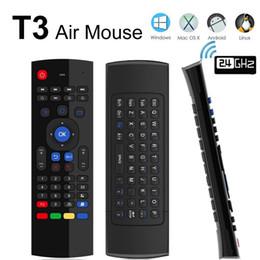 T3 2.4 GHz Fly Air Mouse T3-M Mini tastiera Qwerty Telecomando wireless con microfono VS MX3 X8 Gamepad giroscopio a 6 assi per Android TV Box da